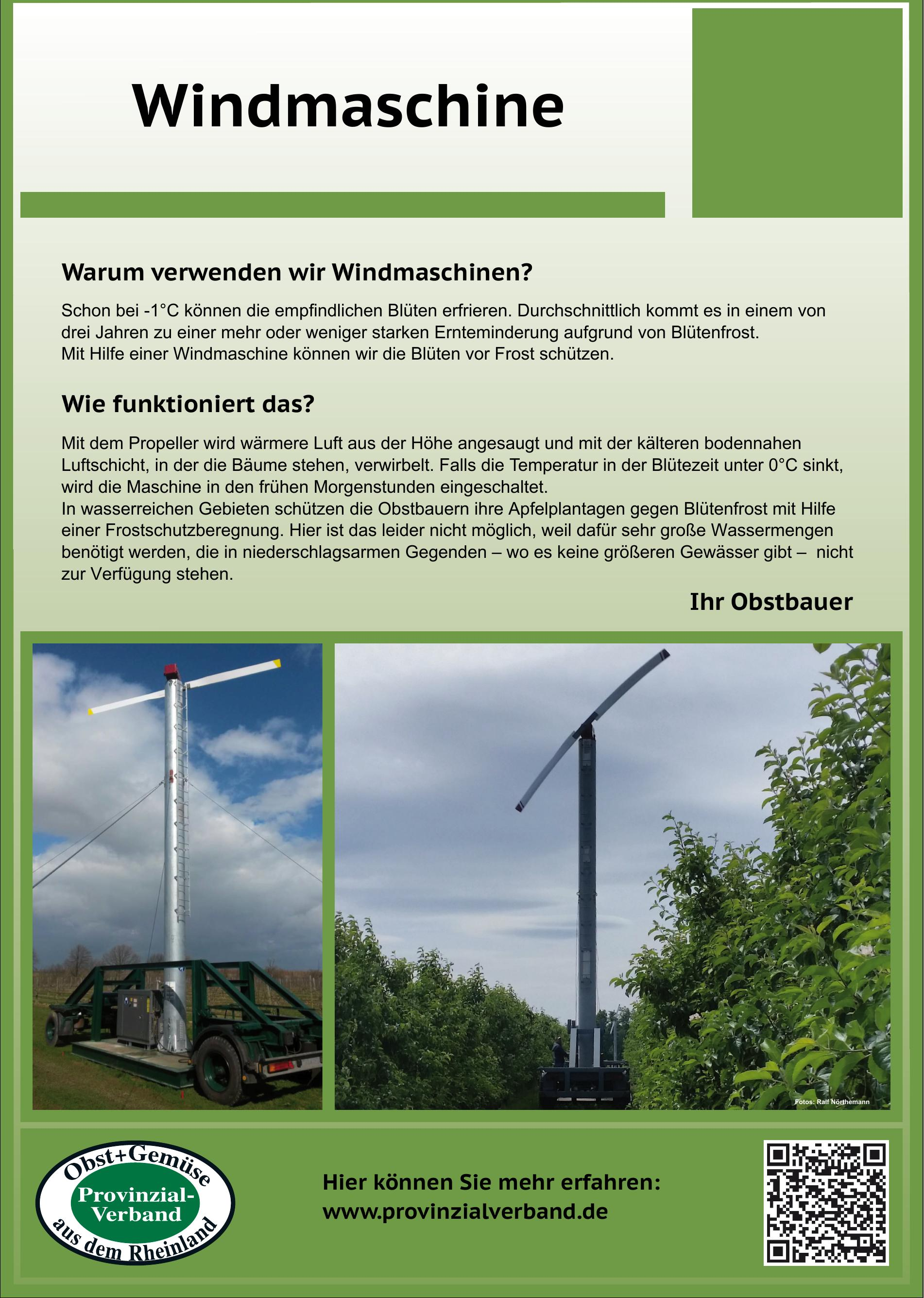 Schild Windmaschine